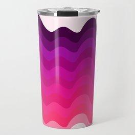 Retro Ripple in Pinks Travel Mug