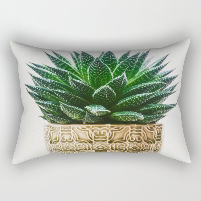 Antique Potted Plant Rectangular Pillow
