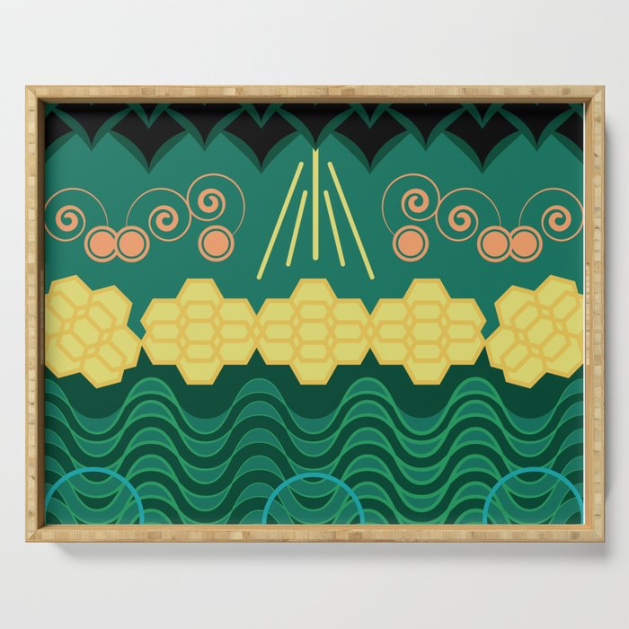 Rainforest HARMONY pattern Serving Tray