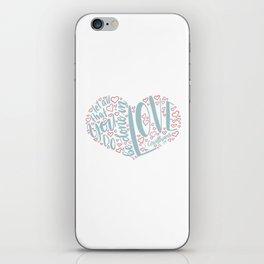 1 Corinthians 16:14 - do in Love iPhone Skin