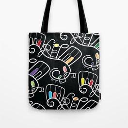 MUSIC SCORE BLACK Tote Bag