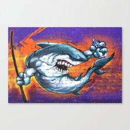 Graffiti Shark Canvas Print