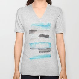 170603 Watercolour Colour Study 11  |Modern Watercolor Art | Abstract Watercolors Unisex V-Neck