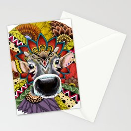 TRIBAL COW Stationery Cards