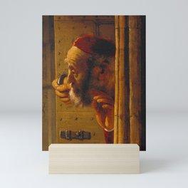 Samson Threatening His Father-in-Law Mini Art Print