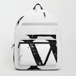Wild and Free Silver on White Backpack