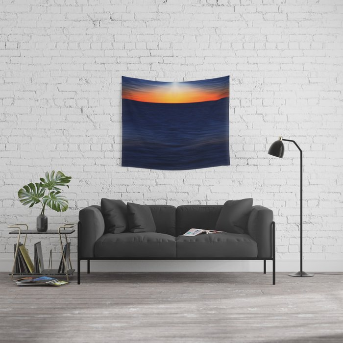 Angelslight over the sea Wall Tapestry