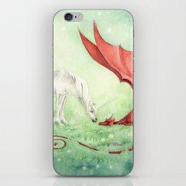 Unicorn and Dragon iPhone Skin