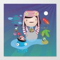 imagine Canvas Prints featuring Imagine  by Maria Jose Da Luz