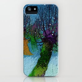 Nightfall snowing iPhone Case