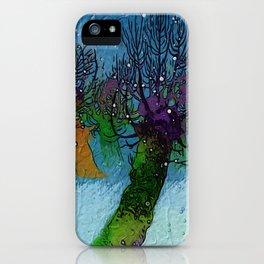 Nightfall snowing iPhone Case