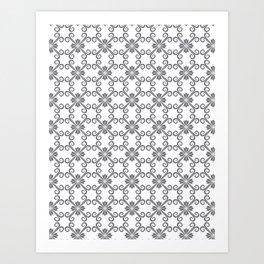 Grey Swirl Pattern Art Print