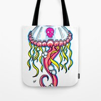 jelly fish Tote Bags featuring Jelly Fish by KillianPB