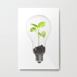 Green energy Metal Print