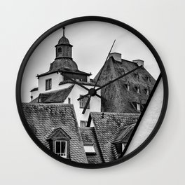 Limburg Rooftops Wall Clock