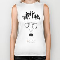 lawyer Biker Tanks featuring Lawyer  | The world inside your head  by teokon