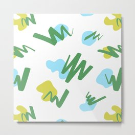 Funky Abstract - blue-green Metal Print