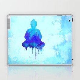 Watercolor zen Buddha blue Laptop & iPad Skin