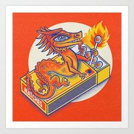 Matchbox Dragon Art Print
