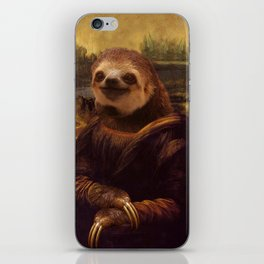 Sloth  Mona Lisa iPhone Skin