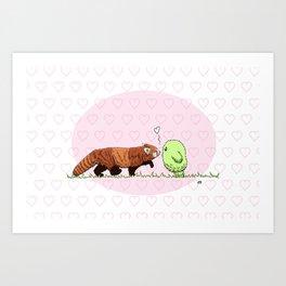 Red Panda Fluff Art Print
