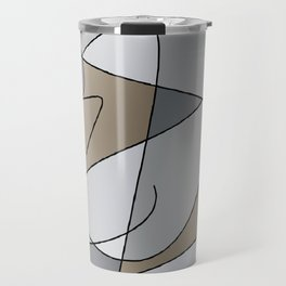 ABSTRACT CURVES #2 (Grays & Beiges) Travel Mug