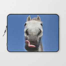 Horse Licks Photography Print Laptop Sleeve