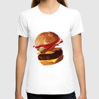 hamburger T-shirts featuring Hamburger by Hikkaphobia