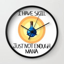 Not enough Mana Wall Clock