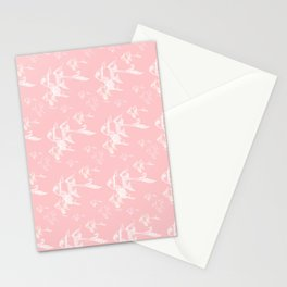 White on Pink Stationery Cards