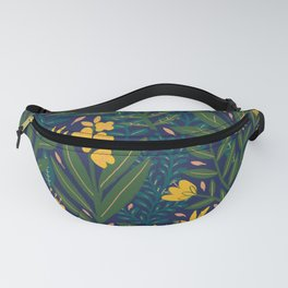 Golden flowers Fanny Pack