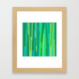Geometric Green Painting Framed Art Print