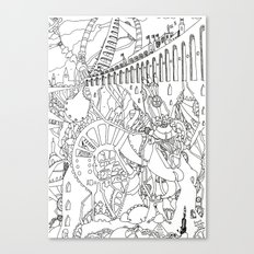Line Drawing Fantasy [Pen Drawing Illustration] Canvas Print