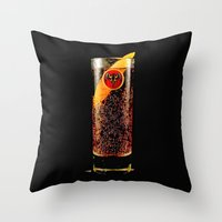 coke Throw Pillows featuring Barcadi Coke by Rothko