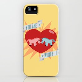 Unicorns are Worth It iPhone Case