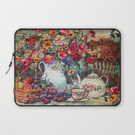 Vintage Tea Party Bouquet Laptop Sleeve