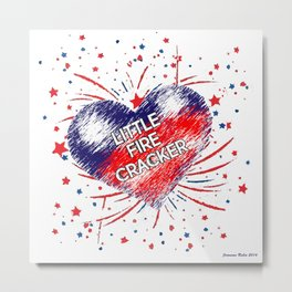 Little Fire Cracker (all over) Jeronimo Rubio 2016 Metal Print