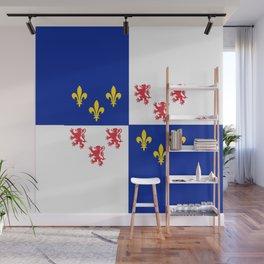 historic flag of picardie Wall Mural