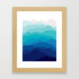 Blue Mist Mountains Framed Art Print