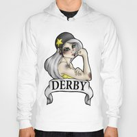 roller derby Hoodies featuring Roller Derby  by Hungry Designs