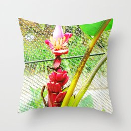 Tropical Petals Throw Pillow