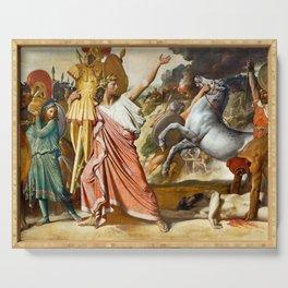 "Jean-Auguste-Dominique Ingres ""Romulus' Victory Over Acron (Romulus, Conqueror of Acron)"" Serving Tray"