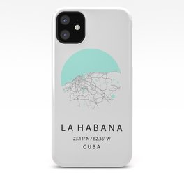 City Map of La Habana, CUBA iPhone Case