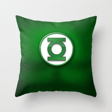 Green Lantern Suit Throw Pillow