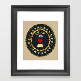 Hello eye heart ewe Framed Art Print