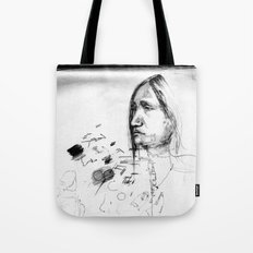 Thoughtful - Native American Indian Drawing  Tote Bag