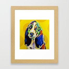 Pop Art Basset Hound Framed Art Print