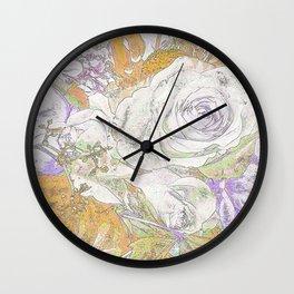 Soft Watercolors -Roses Wall Clock