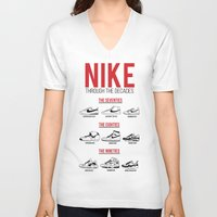 nike V-neck T-shirts featuring Nike Through the Decades  by halmills