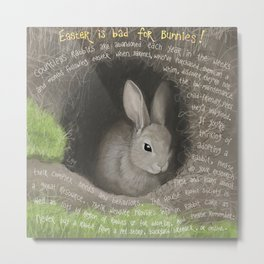 Rabbit 2 Metal Print